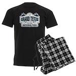 Grand Teton Blue Sign Men's Dark Pajamas