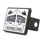 Grand Teton Blue Sign Rectangular Hitch Cover