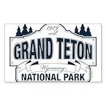Grand Teton Blue Sign Sticker (Rectangle 10 pk)