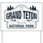 Grand Teton Blue Sign Yard Sign