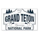 Grand Teton Blue Sign Sticker (Rectangle)