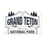 Grand Teton Blue Sign Rectangle Car Magnet