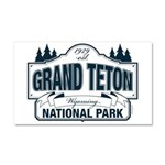 Grand Teton Blue Sign Car Magnet 20 x 12