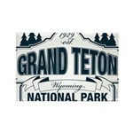 Grand Teton Blue Sign Rectangle Magnet (100 pack)