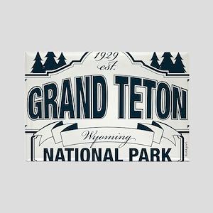 Grand Teton Blue Sign Rectangle Magnet