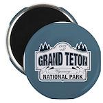 Grand Teton Blue Sign Magnet