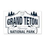 Grand Teton Blue Sign 20x12 Wall Decal