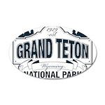 Grand Teton Blue Sign 20x12 Oval Wall Decal