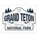 Grand Teton Blue Sign Small Poster