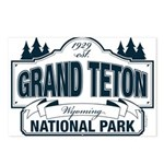 Grand Teton Blue Sign Postcards (Package of 8)