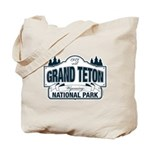 Grand Teton Blue Sign Tote Bag