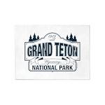 Grand Teton Blue Sign 5'x7'Area Rug