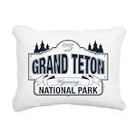 Grand Teton Blue Sign Rectangular Canvas Pillow