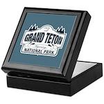 Grand Teton Blue Sign Keepsake Box
