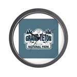 Grand Teton Blue Sign Wall Clock