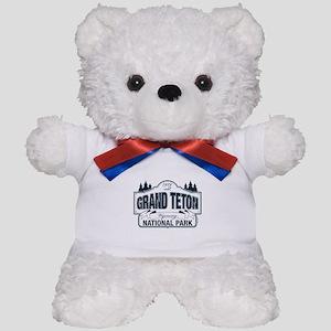 Grand Teton Blue Sign Teddy Bear