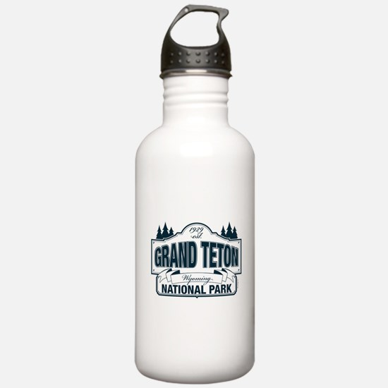 Grand Teton Blue Sign Water Bottle