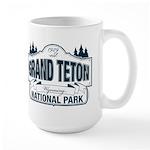 Grand Teton Blue Sign Large Mug