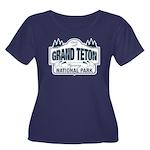Grand Teton Blue Sign Women's Plus Size Scoop Neck