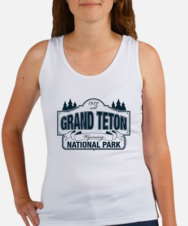 Grand Teton Blue Sign Women's Tank Top