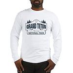 Grand Teton Blue Sign Long Sleeve T-Shirt