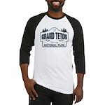Grand Teton Blue Sign Baseball Jersey