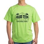 Grand Teton Blue Sign Green T-Shirt