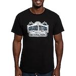Grand Teton Blue Sign Men's Fitted T-Shirt (dark)