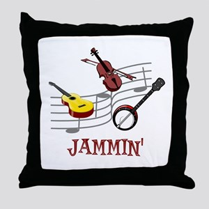 Jammin Throw Pillow