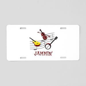Jammin Aluminum License Plate