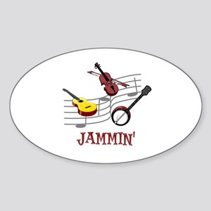 Jammin Sticker (Oval)