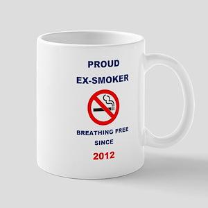 Proud Ex-Smoker - Breathing Free Since 2012 Mug