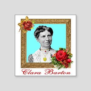 "Clara Barton - Nurse Square Sticker 3"" x 3&qu"