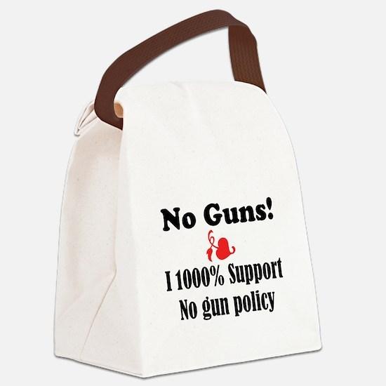 No Guns Canvas Lunch Bag