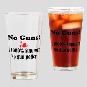 No Guns Drinking Glass