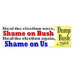 Shame on Bush Bumper Sticker