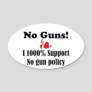 No Guns Oval Car Magnet