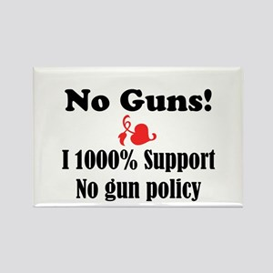 No Guns Rectangle Magnet