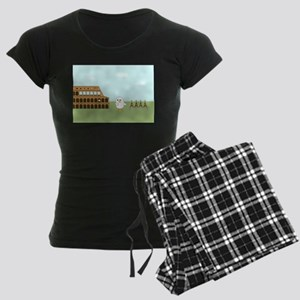 Vendor in Rome Women's Dark Pajamas