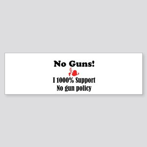 No Guns Sticker (Bumper)