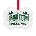 Grand Teton Green Sign Picture Ornament