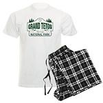 Grand Teton Green Sign Men's Light Pajamas