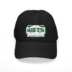 Grand Teton Green Sign Black Cap