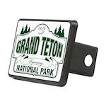 Grand Teton Green Sign Rectangular Hitch Cover