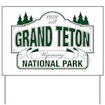 Grand Teton Green Sign Yard Sign