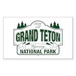 Grand Teton Green Sign Sticker (Rectangle)