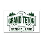 Grand Teton Green Sign Car Magnet 20 x 12