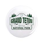 "Grand Teton Green Sign 3.5"" Button (100 pack)"
