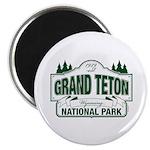 Grand Teton Green Sign Magnet