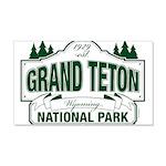 Grand Teton Green Sign 20x12 Wall Decal